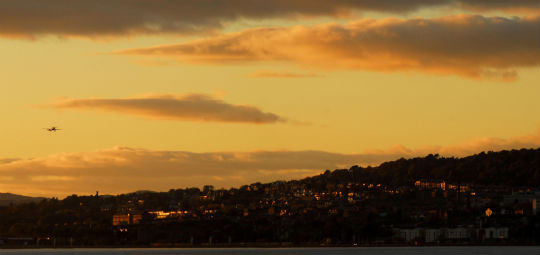 Dundee at sunset.