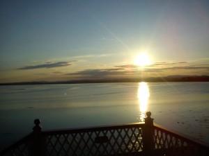 Sunset over Montrose Basin