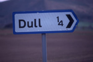 Signpost for Dull