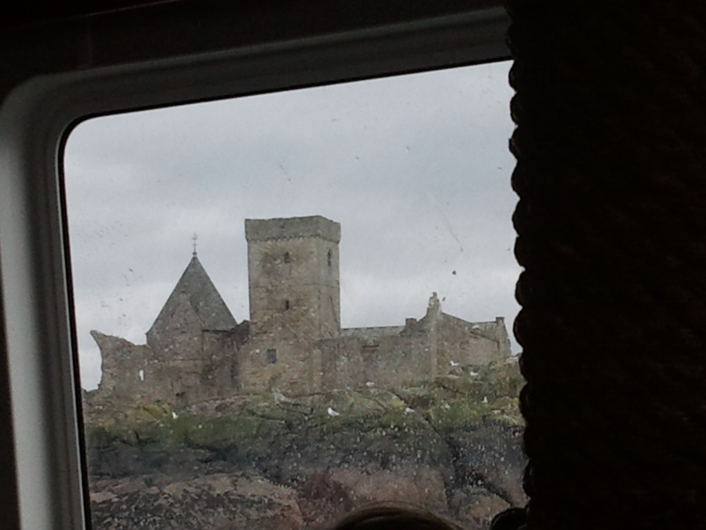 Inchcolm Abbey from the Maid of the Forth