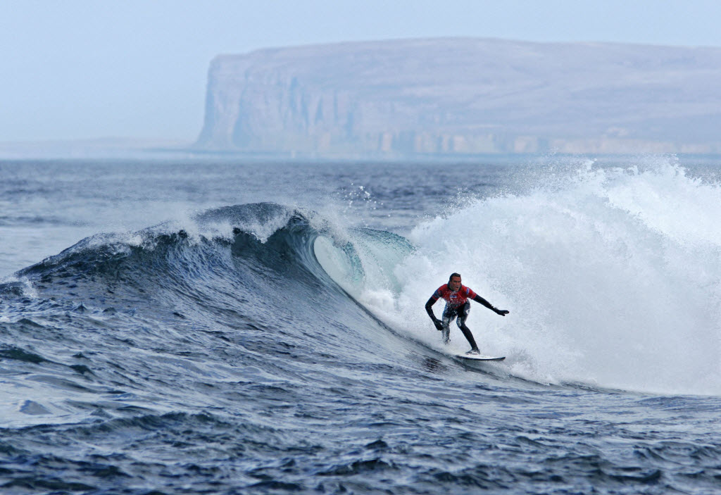 Surfing in Scotland