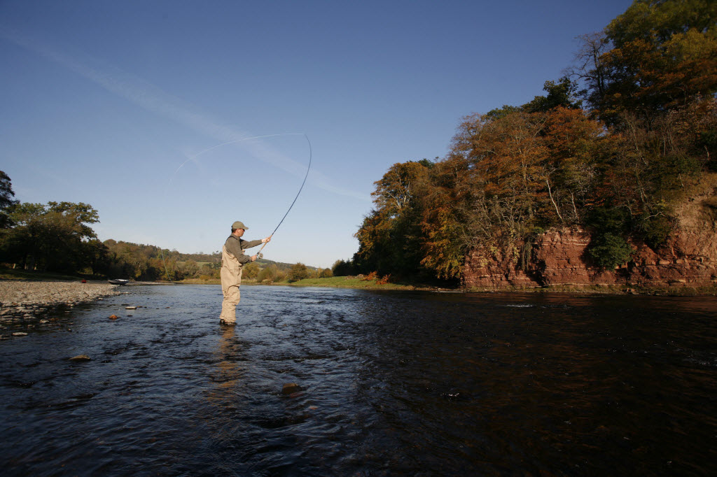 Salmon fishing in the Scottish Borders