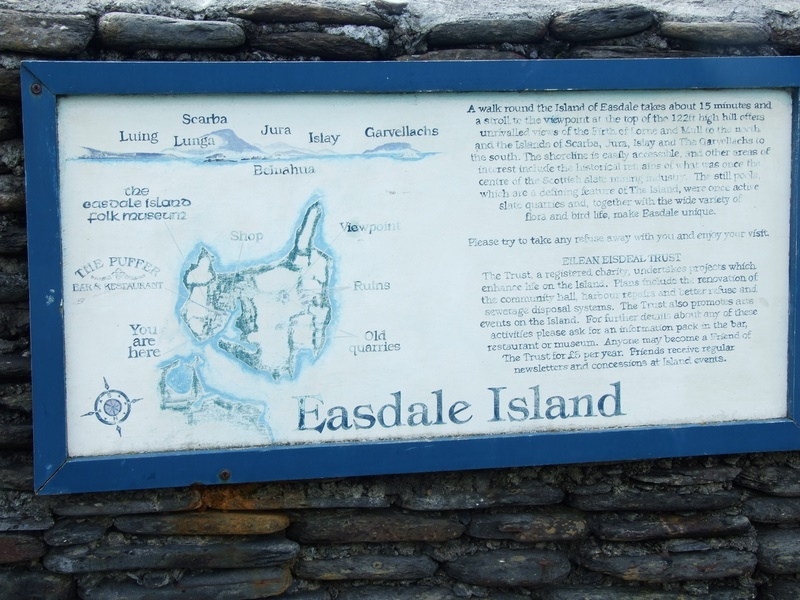 Sign for Easdale Island