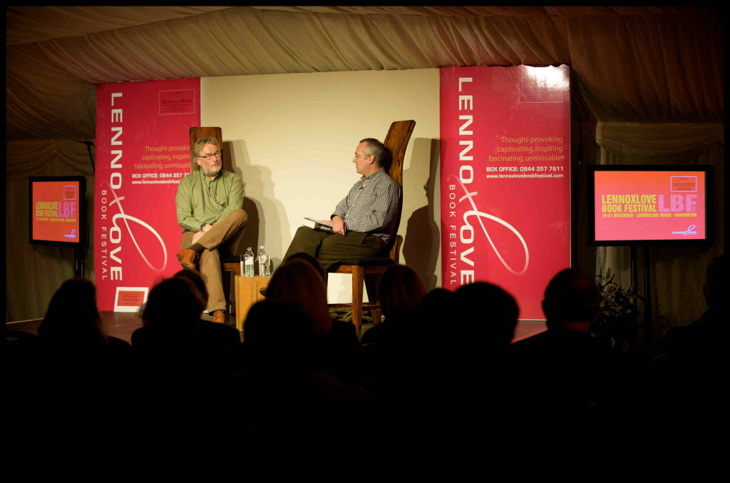 Author Iain M Banks at Lennoxlove Book Festival 2010