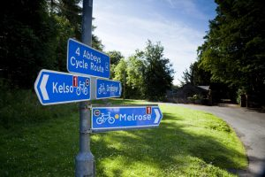 Scottish Borders Cycling Route Sign