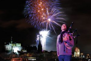 Hogmanay firework display Edinburgh