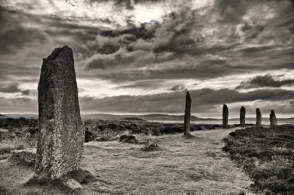 The Ring of Brodgar, part of the Heart of Neolithic Orkney World Heritage Site, Mainland, Orkney.