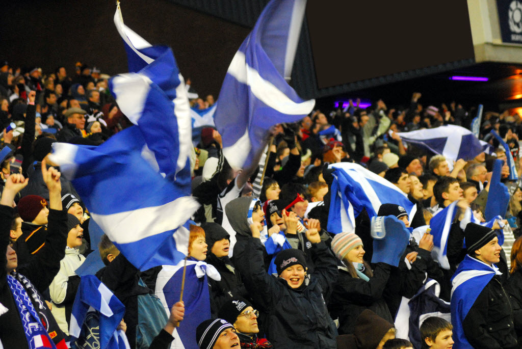 Crowd at Murrayfield Stadium, Edinburgh