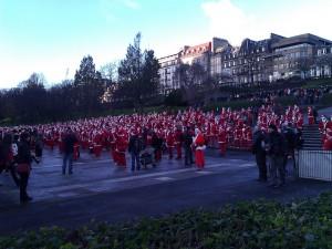 The Great Edinburgh Santa Fun Run - Edinburgh