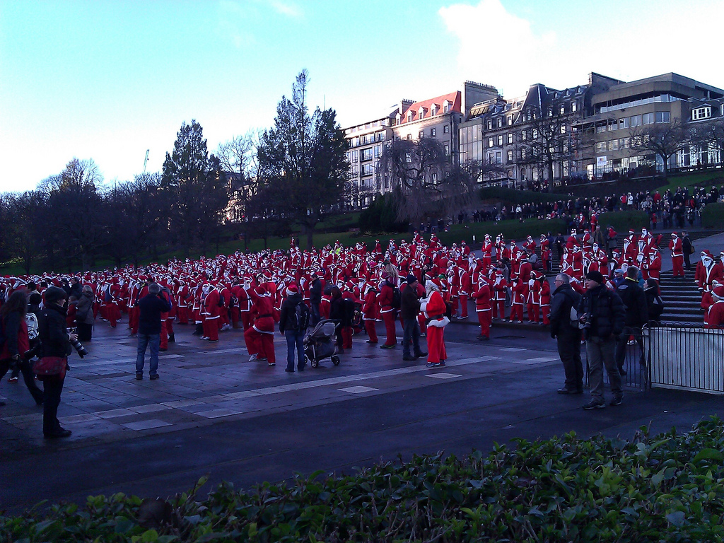 The Great Edinburgh Santa Fun Run - Edinburgh