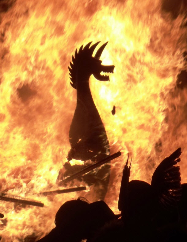 Up Helly Aa Boat Burning