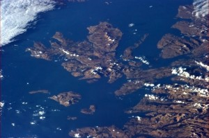 Isle of Skye, Scotland, with February snow on the peaks. Mist and mountains - a stirring landscape - Chris Hadfield