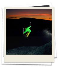 Valentine's night skiing