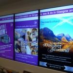 Digital screens for travel inspiration