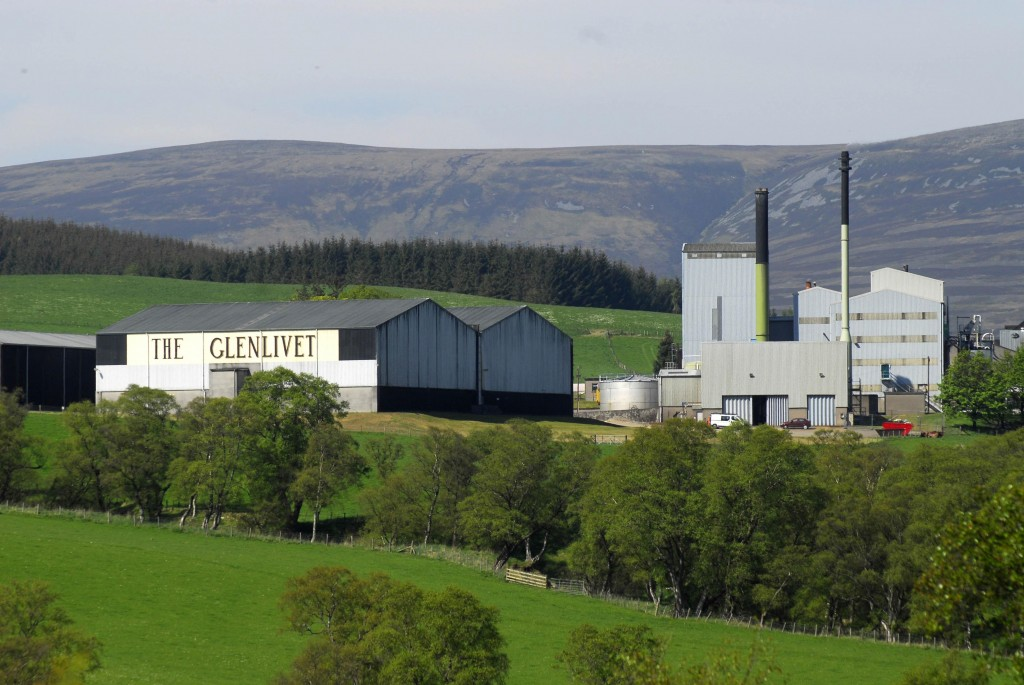 Glenlivet Distillery, situated near Ballindalloch in Moray.