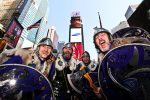 Shetland Vikings in Time Square for Scotland Week