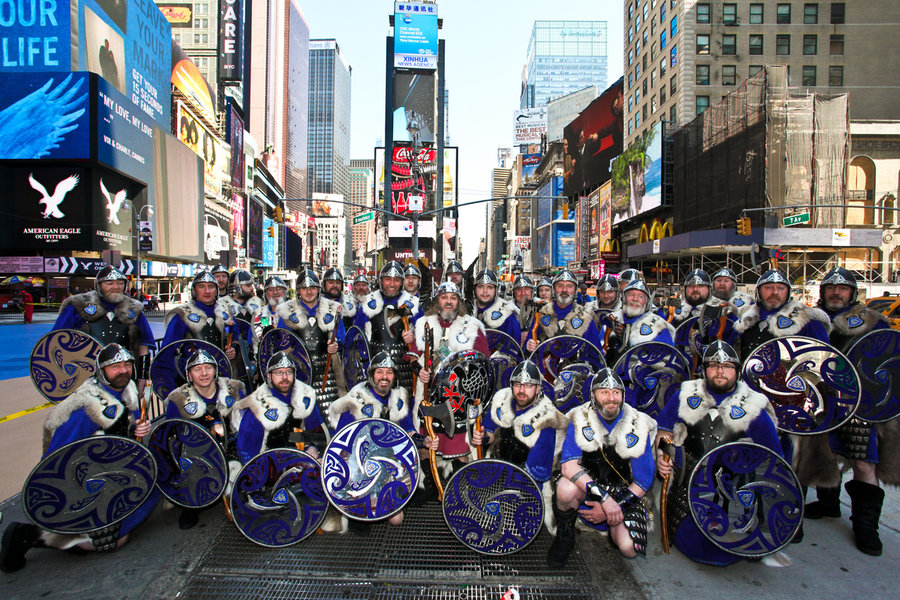 Shetland Vikings in Time Square, New York Group Photo