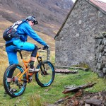 Steve Peat outside the bothy