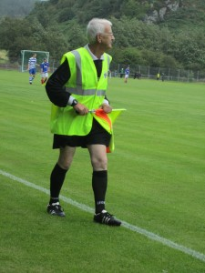 A linesman at the MacAulay Cup Final