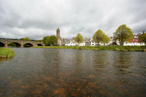 Peebles on the River Tweed, Scottish Borders
