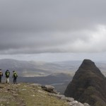 Climbers on the Mountain Suilven, Assynt