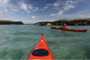 Kayaking off Isle of Harris