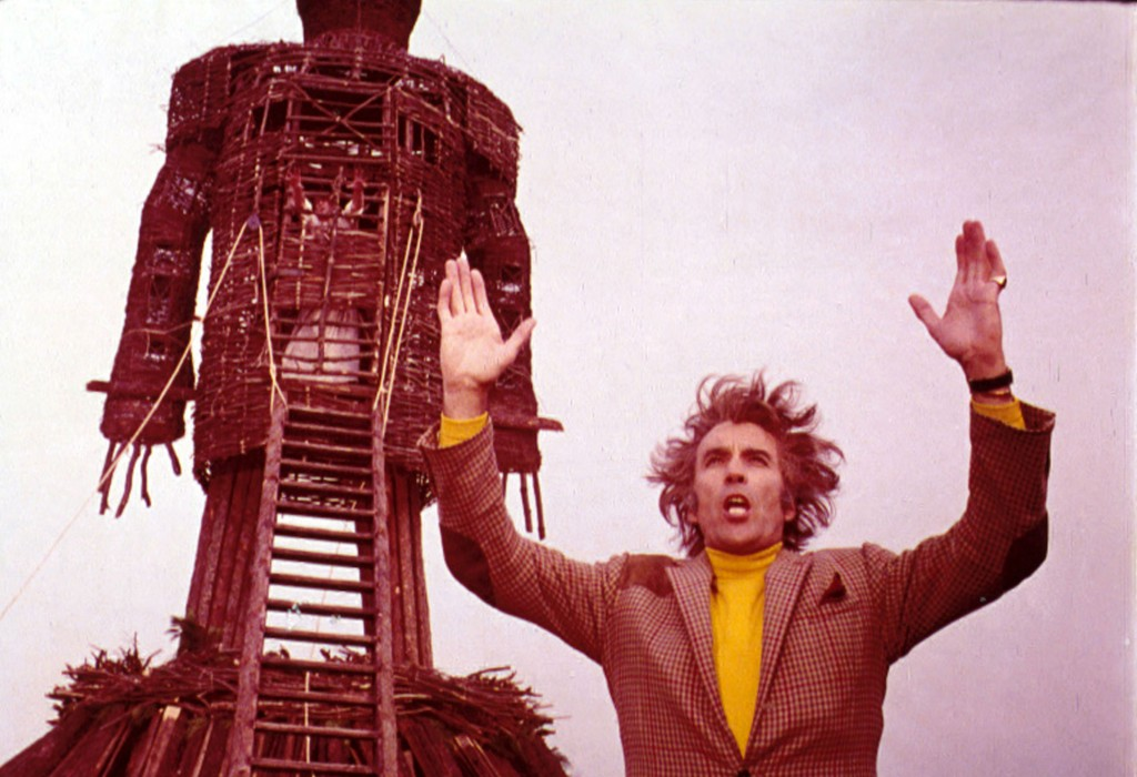 Christopher Lee as Lord Summerisle and the eponymous Wicker Man