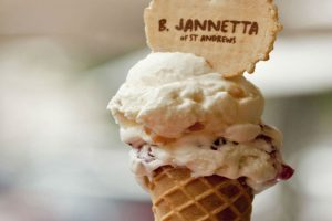 An ice cream cone from B. Jannettas, St Andrews