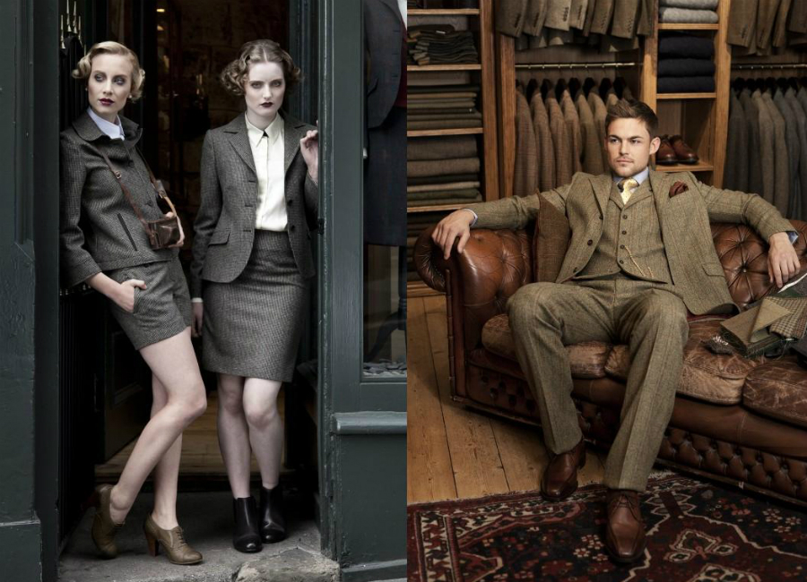 Borders tweed and Shetland wool outfits by Walker Slater