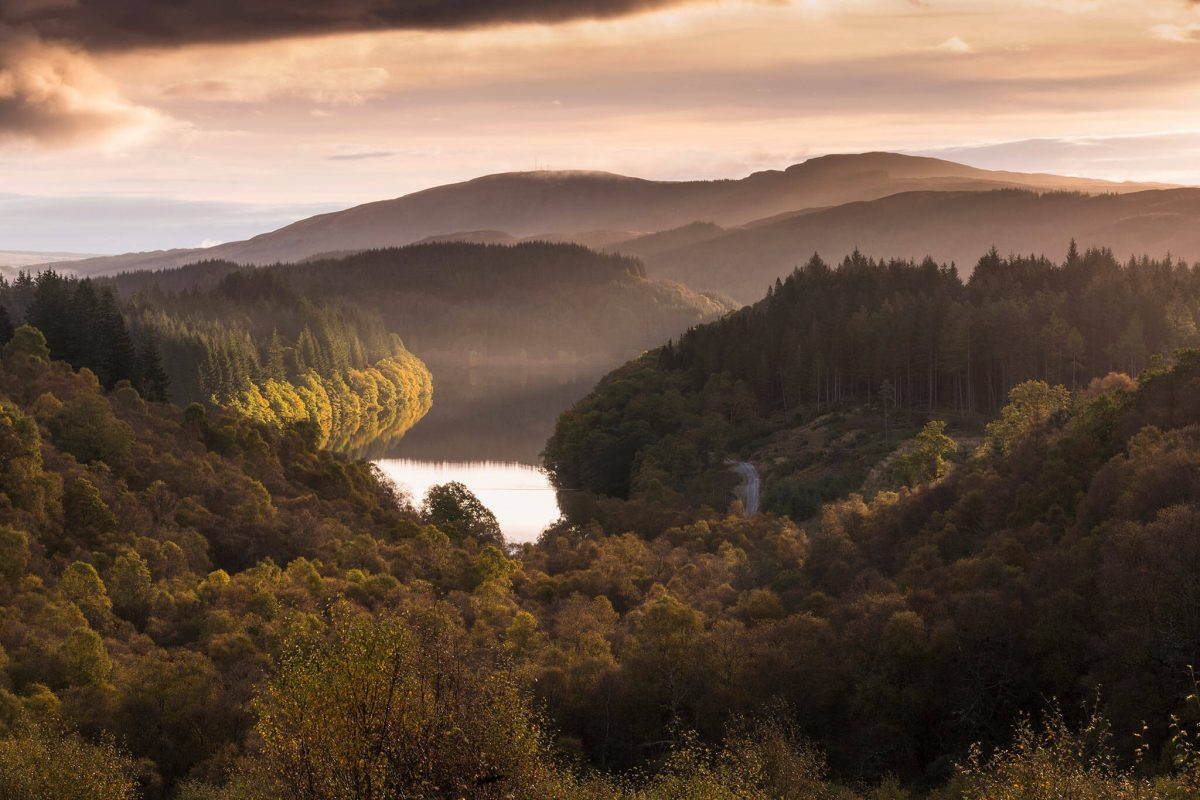 Loch Drunkie seen from the Duke's Pass in Loch Lomond & the Trossachs National Park