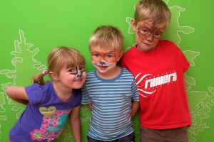Face painting at the Lodge Forest Visitor Centre © Forestry Commission