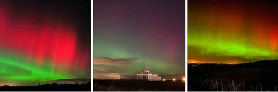 Northern Lights light up skies across Scotland - February 2014