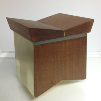 A handcrafted wooden box made by Mette Freurgaard; available from The Barony Centre