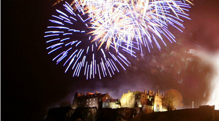 Fireworks display over Stirling Castle © Rhonda Peebles