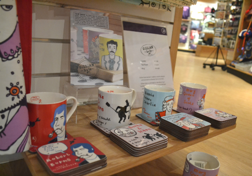 Some examples from the fun and quirky 'Local Heroes' range by Gillian Kyle, as available from Edinburgh Visitor Information Centre