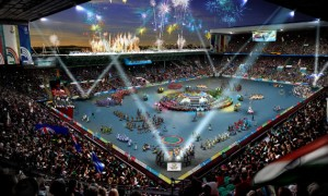Artists Impression of the Glasgow 2014 Opening Ceremony
