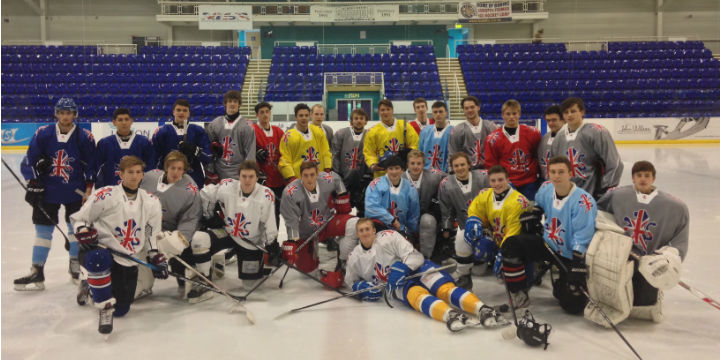The Great Britain Under 20 Squad at the Ice Hockey Federation World Championships