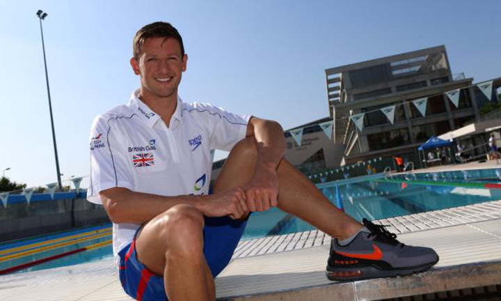 Scotland's Michael Jamieson : Olympic silver medallist and competitior at the Duel in the Pool, 2013.