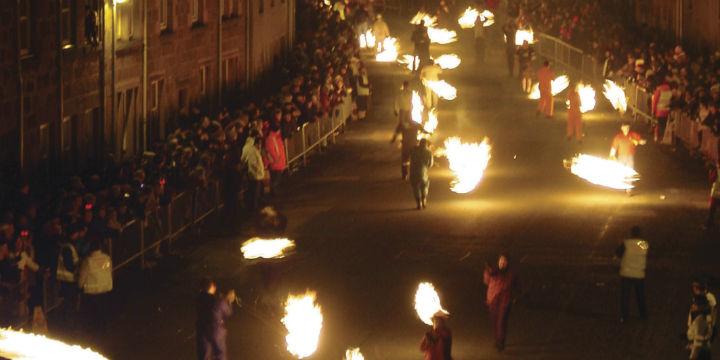 The Stonehaven Fireballs procession