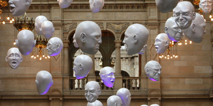 Art installation in Kelvingrove Museum and Art Gallery