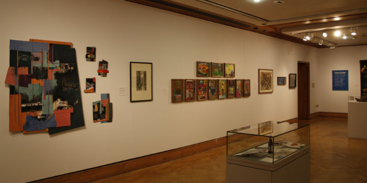 Works on display as part of the Citizen Curator exhibition at Edinburgh's City Art Centre