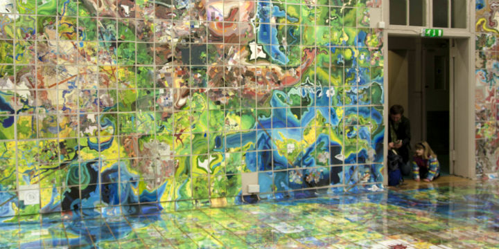 Jerry's Map by artist Jerry Gretzinger, on display at Summerhall, Edinburgh