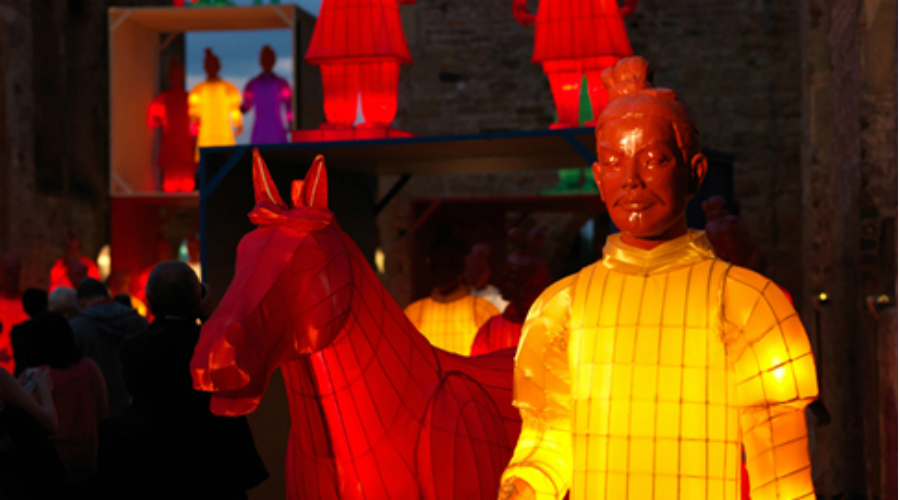The lanterns of Terracotta Warriors