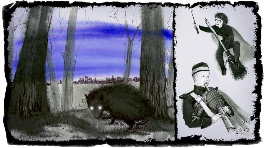 Haggis - grotesque misinterpretation illustrations