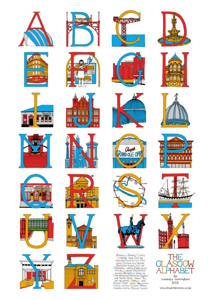 Glasgow Alphabet © Rosemary Cunningham