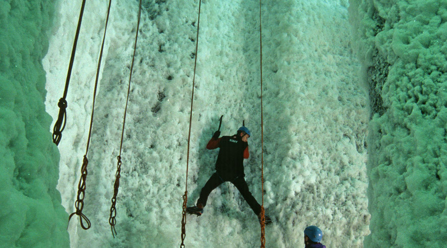 Ice climbing at the Ice Factor, Lochaber