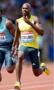 2003 World 100 m champion Kim Collins