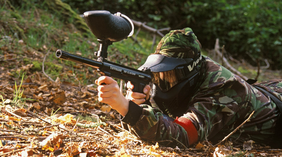 Paintballing at Fairbairn Activity Centre, the Highlands
