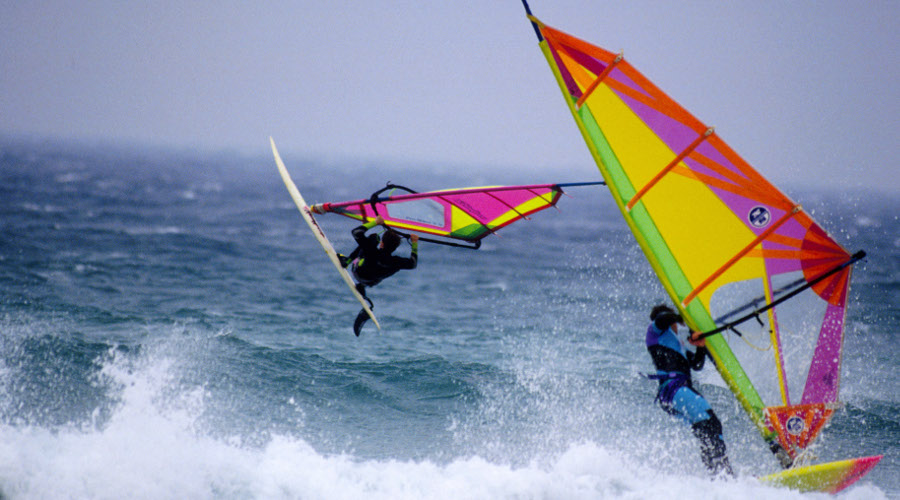 Windsurfers at the Tiree Wave Classic