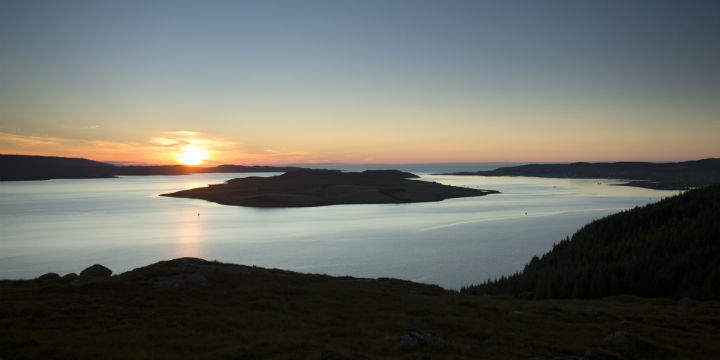 Sunset over Loch Ewe, Highlands
